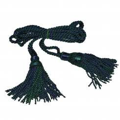 Bagpipe Cords, Seide, Black Watch