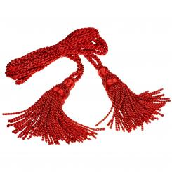 Bagpipe Cords, Seide, rot