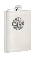 8oz Celtic Weave Stainless Steel Hip Flask