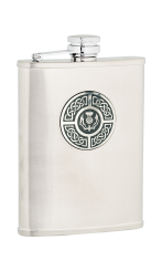 6oz Celtic & Thistle Stainless Steel Hip Flask