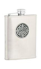 6oz Celtic Knot Stainless Steel Hip Flask