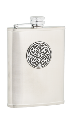 6oz Celtic Weave Stainless Steel Hip Flask