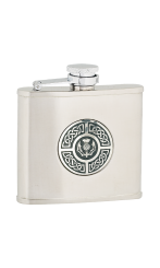 4oz Celtic & Thistle Stainless Steel Hip Flask