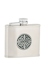 4oz Celtic Knot Stainless Steel Hip Flask