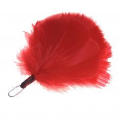Small Flat Plume QOH - Red