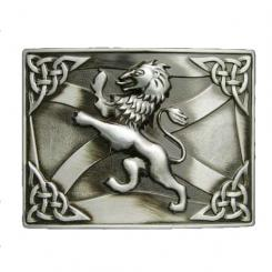 Celtic Rampant Lion Gunmetal