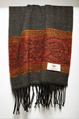 Celtic Dogs Charcoal Jacquard Scarf