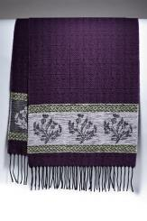 Celtic Thistle Purple Jacquard Scarf