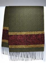 Celtic Birds Olive woven scarf