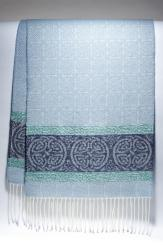 Celtic Border Alaska Blue Jacquard Scarf