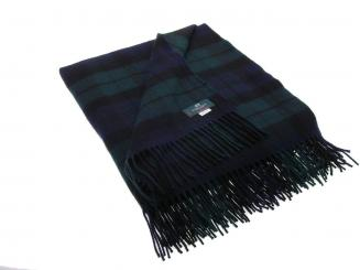 Black Watch Modern Tartan Lammwolldecke