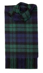 Black Watch Modern Tartan Lambswool Scarf