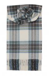 Stewart Blue Dress Modern Tartan Lambswool Scarf