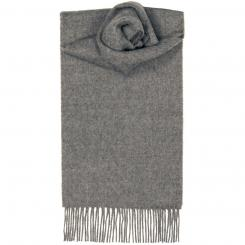 Steel Plain Coloured Lambswool Scarf