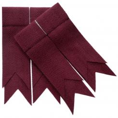 Maroon Plain Coloured Garter Double Flashes