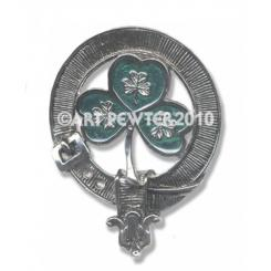 Cap Badges Shamrock Green Enamel