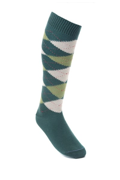 c7288e66a Argyle Golf Socks Tartan green